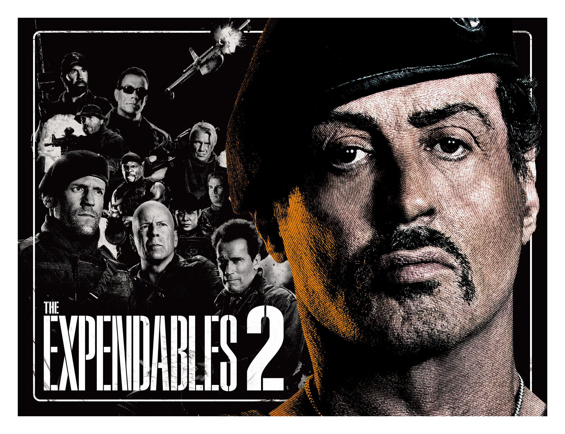 THE EXPENDABLES 2 劇場パンフレット表紙デザイン