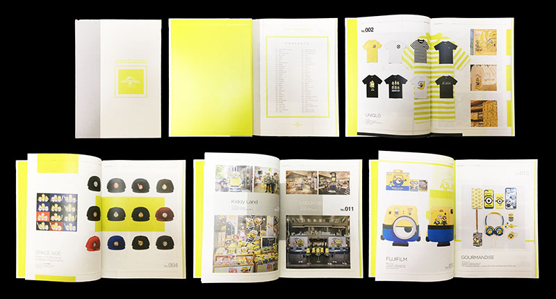 UNIVERSAL社 キャラクター権利事業のための海外向け事例集  ページデザイン